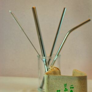Qasheh Metal Straw set