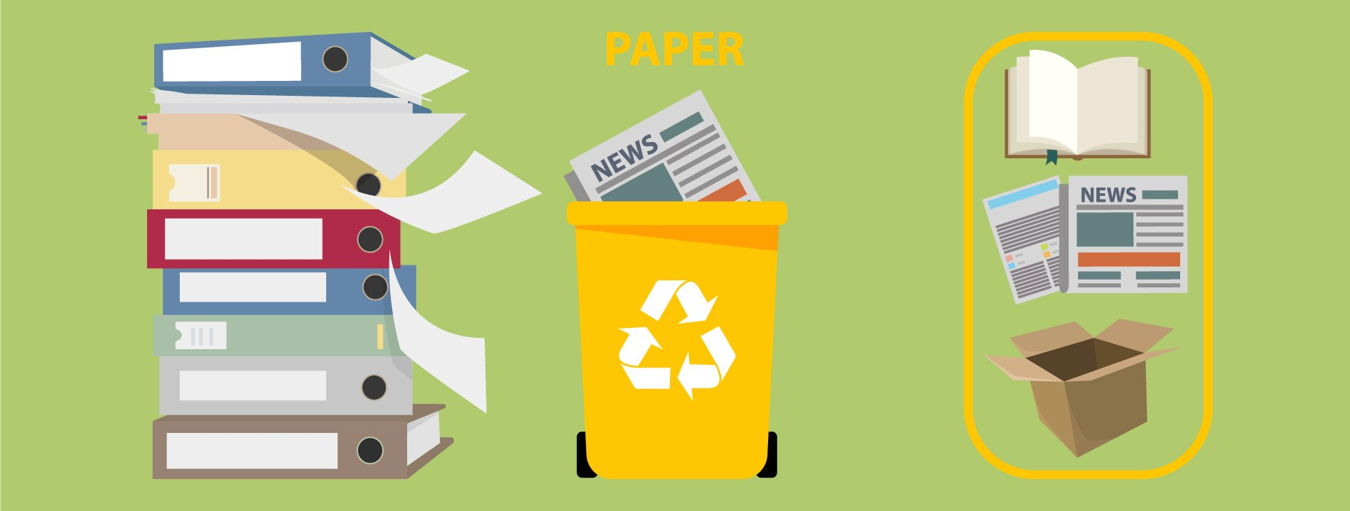 Paper waste in Amman and other jordanian cities